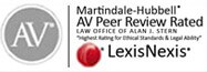 Marindale-Hubbell peer review outstanding top attorney award.