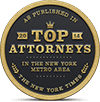 NY Top attorney award given to the best personal injury attorneys in the area.