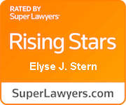 Super Lawyers rising star award for Stern Law Firms, Elyse J Stern in the area of personal injury litigation.