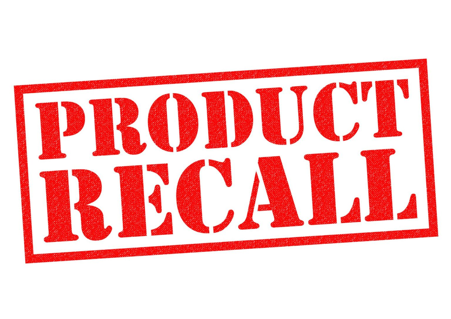 Product liability recall notice